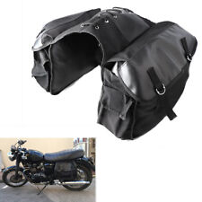 Motorcycle Bike Rear Tail Storage Bag Saddle Bags Black For Harley Honda Suzuki
