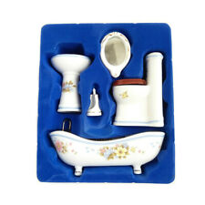 Dollhouse Furniture Bathroom Set 1:12 Scale Toilet Room Miniature Accessories