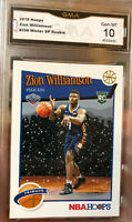 Hot Zion Williamson Rookie NBA Hoops SP Winter Tribute Variation Gem Mint 10