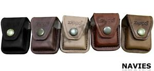 Zippo Lighter Leather Pouch Case Cover Holder With Loop In Different Colors New