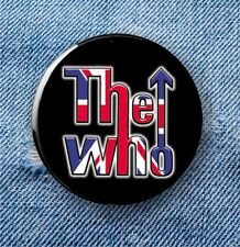 Large Button Badge - 58mm diameter The Who, with Union Jack -
