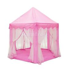 Pink Princess Portable Playhouse Indoor & Outdoor Kids Play Tent Castle Toy
