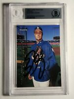 1999 Fleer Tradition Update Eric Gagne RC BGS Autograph Dodgers Red Sox Auto