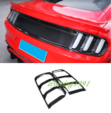 Real Carbon Fiber Rear Tail Light Lamp Cover Trim For Ford Mustang 2015-2019