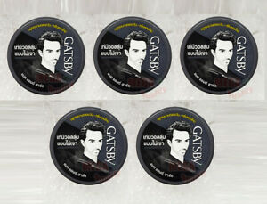 5 x GATSBY Hair Styling Wax Mat and Hard From JAPAN 75 g.