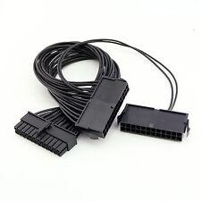 20+4 Pin To Dual 24 Pin ATX Power Supply Connector Splitter Dual-PSU ATX Adapter