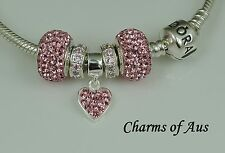 GENUINE Pandora bracelet all sizes + 5 stunning charms. Mother's Day Gift