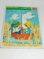 Tray Puzzle Vintage Toy 1973 Merrigold Press Boating Party Boat