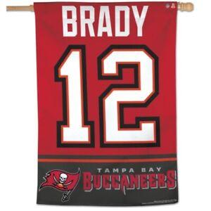 "TOM BRADY #12 TAMPA BAY BUCCANEERS 28""X40"" BANNER FLAG BRAND NEW WINCRAFT 👀🔥"
