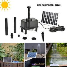 Pompe à eau solaire fontaine panneau solaire 200L/h Jardin bassin Étang Fontaine
