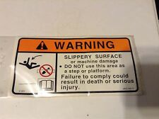 86611825 - A New Original Warning Decal For A New Holland 345W, 366W, 900, 355W