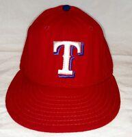 TEXAS RANGERS Hat WOOL Baseball Cap Vintage Worn NEW ERA Diamond Sz 7 1/4 USA