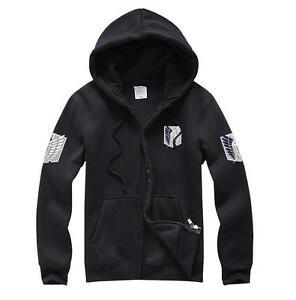 Attack on Titan Shingeki no Kyojin Scouting Legion Hoodie Zipper Sweatshirt Coat