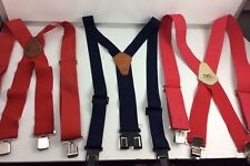 Lot Of 3 Men's Perry, Pittsburgh, And Clc Red And Blue Suspenders Size L-Xl Euc
