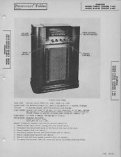 1946 SPARTON 7AM46 8AM46 RADIO SERVICE MANUAL PHOTOFACT SCHEMATIC TUBE DIAGRAM