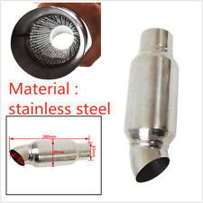 Stainless Steel 89MM Car Modified Decoration Sound Drum Exhaust Muffler