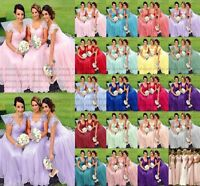 Stock New Lace/Chiffon Formal Prom Party Ball Bridesmaid Evening Dress Size 6-18