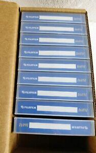 9 Fujifilm 160M 8MM Data Tape Cartridge 7GB / 14GB Atom Technology Made In Japan