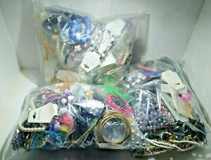 1KG Job Lot costume jewellery mixed bundle upcycle resell resale free UK p&p