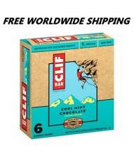 Clif Bar Cool Mint Chocolate Chip Energy Granola Bars 6 Ct WORLDWIDE SHIP