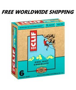 Clif Bar Cool Mint Chocolate Chip Energy Granola Bars 6 Ct WORLDWIDE SHIP