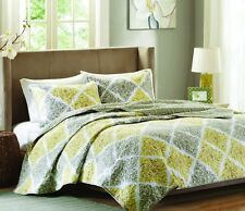 Luxury Home 3 Piece Myrtle Quilt Set Queen New Bed Comforter Beautiful