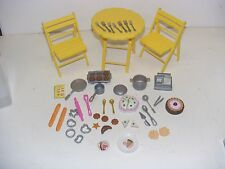 2000 MATTEL BARBIE BAKE SHOP & CAFE PLAYSET Lot Bakery Chairs Table Accessories