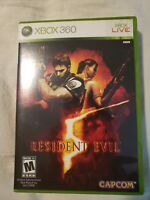 Resident Evil 5 (Microsoft Xbox 360, 2009) Tested Working! Complete!