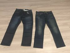 2 x men's jeans - Levi's (worn once) and RE demin (new)