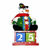 Snowman Wooden Calendar Christmas Home Decor Xmas Party Suppy Event Celebration