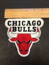 """NBA Chicago Bulls 5"""" x 5"""" Felt & Embroidered Patch- Sew On-Vintage"""