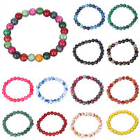 femmes vente en gros pierre naturelle Jade perles rondes Bracelet élastique 67