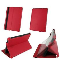 "rooCASE for Amazon Kindle Fire 7"" - Slim-Fit Vegan Leather Folio Red Lot C8"