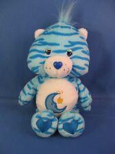 "Care Bears Bedtime Bear Blue Zebra Tiger Stripe Jungle Party Special Edition 8"""