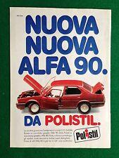PY61 Pubblicità Advertising Clipping 24x18 cm (1984) POLISTIL AUTO ALFA 90 1:25