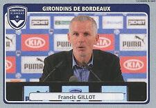 N°054 GILLOT GIRONDINS BORDEAUX Shanghai Greenland.FC STICKER  PANINI FOOT 2012