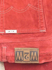 Skott's Suede Womens Jeans Washable Red Suede 32X31 Inseam New w/tags Gorgeous