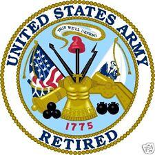 "United States Of America Usa Army Retired Decal Window Bumper Sticker 4"" Round"