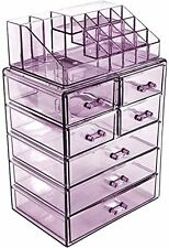 Sorbus Acrylic Cosmetic Makeup and Jewelry Storage Case Display - Purple