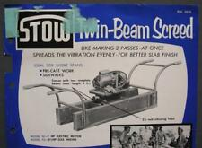 Original 1956 STOW Twin-Beam Screed & Power Midget Vibrator Dealer Sales Sheet