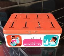 WILLOW BUDGET TIN Vintage Tin Toy money Box Piggy Bank 1960's