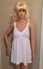 M white EMPIRE WAIST SLEEVELESS TUNIC blouse by SONOMA