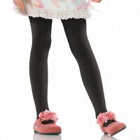 Black Opaque Child Tights Leg Avenue Enchanted Costumes Halloween Pantyhose