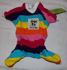 New listing Fitwarm Dog Outfit Clothes S Small Pet Rainbow Multi-Color New Lgbt Coat Sweater