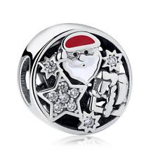 DIY Santa Claus European CZ Charm Crystal Spacer Beads Fit Necklace Bracelet NEW