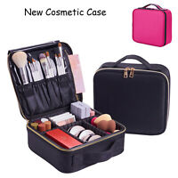 Cosmetic Travel Case Storage Makeup Brushes Kits With DIY Adjustable Divider