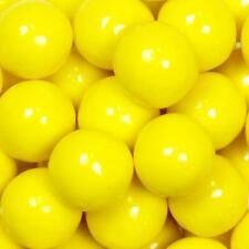 """Yellow 5 Lb 1"""" Gumballs Bulk Vending Machine Candy Gum Ball 25 mm"""