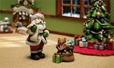 FAIRY GARDEN Miniature ~ Night Before Christmas Santa And Gift Bag ~ Mini Dol...