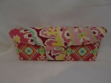 VERA BRADLEY Flip Top Cloth Case in Pink Yellow For Glasses 36mm Authentic C