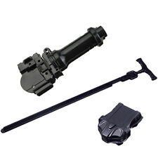 Black Beyblade Metal Fusion Fight Rip Cord Power Launcher + Black Launcher Grip